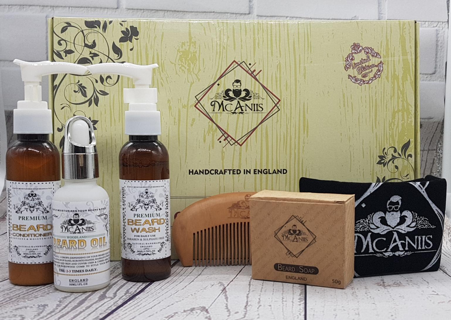 McAniis Premium XL Beard Grooming Kit - 6 Pieces - Limited Edition